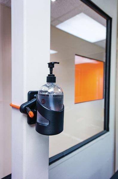Porte-flacon Skipper™ - Désinfection, soins et séchage des mains
