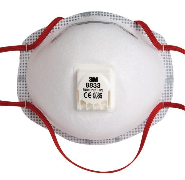 Masque de protection anti-poussière FFP3 jetable avec bords à texture gaufrée - Seton