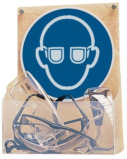 Distributeur d'EPI visiteurs Lunettes de protection obligatoires - Seton