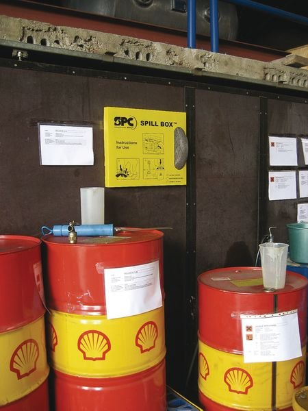 Boîte distributrice de feuilles absorbantes pour liquides industriels - Feuilles absorbantes (antipollution) Liquides industriels