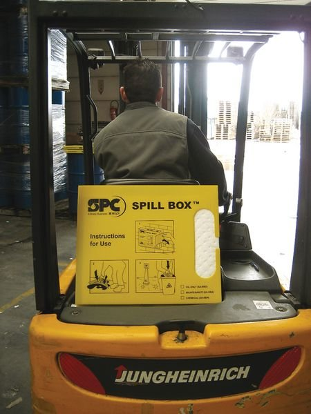 Boîte distributrice de feuilles absorbantes pour hydrocarbures - Feuilles absorbantes (antipollution) Huiles et Hydrocarbures