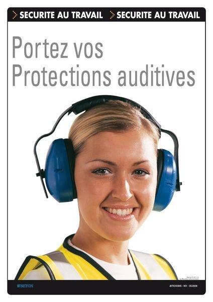 Affiche - Portez vos protections auditives