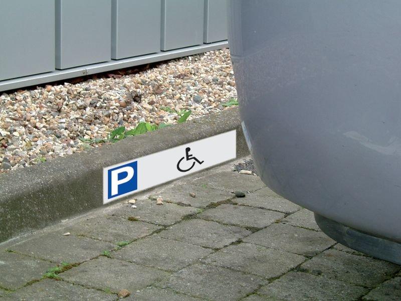 Panneau en Alucobond® Place de parking - Handicapés - Seton