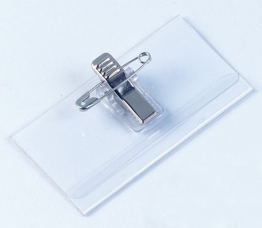 Badges de conférence à fixation épingle ou clip