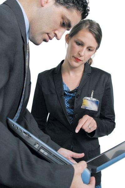 Porte-badge semi-rigide avec dos opaque blanc - Badges et accessoires de badges Personnel & Visiteurs