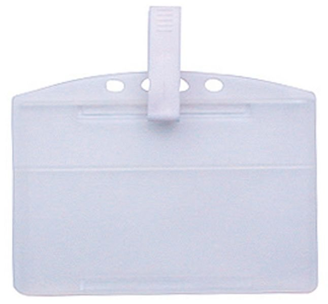 Porte-badge rigide en polypropylène translucide