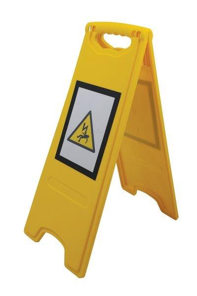 Balise pliante de signalisation de danger avec insert magnétique - Chevalets de signalisation sol glissant et danger