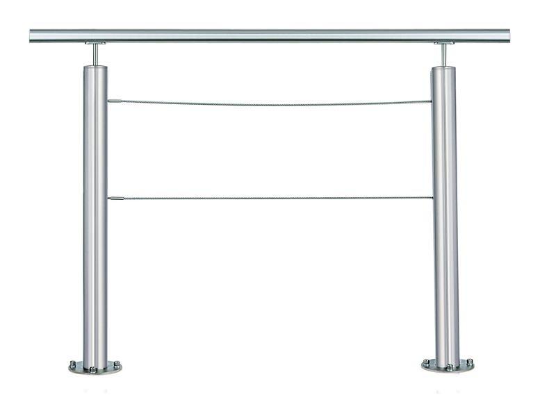 Barrières de voirie à câbles en acier avec ou sans main courante