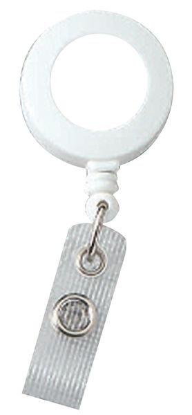 Enrouleur zip porte-badge personnalisé plat - Signalétique, Tapis, Poteaux de guidage pour accueil entreprises