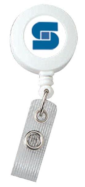 Enrouleur zip porte-badge personnalisé plat