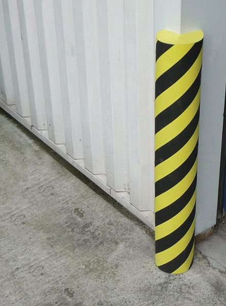 Butoirs de protection en mousse thermoplastique dense noir et jaune