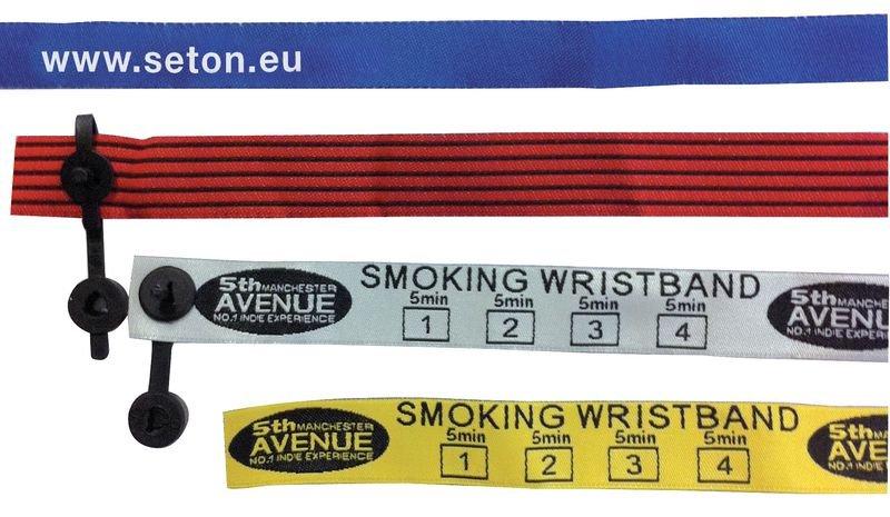 Bracelet de contrôle en tissu personnalisable - Seton