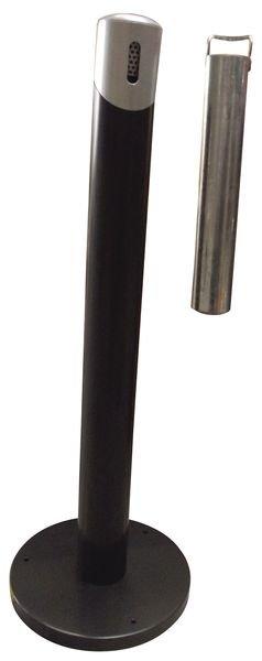 Cendrier tube sur pied