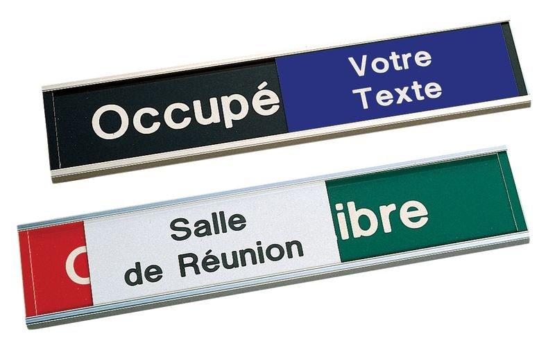 Plaque gravée avec texte au choix sur les 3 panneaux - Seton