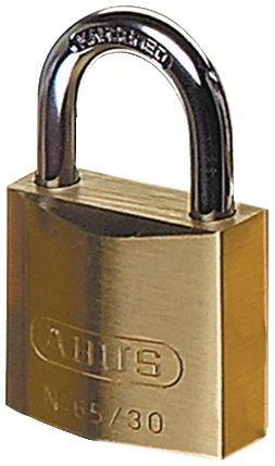 Cadenas de sécurité ABUS à clé en laiton