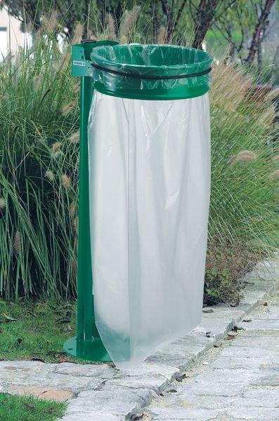 Support de sac poubelle d'extérieur spécial Plan vigipirate - Poubelle d'entreprise extérieure