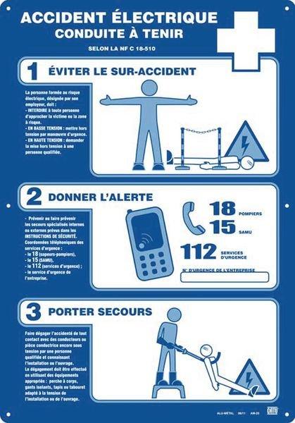 Consignes de sécurité en cas d'accidents électriques