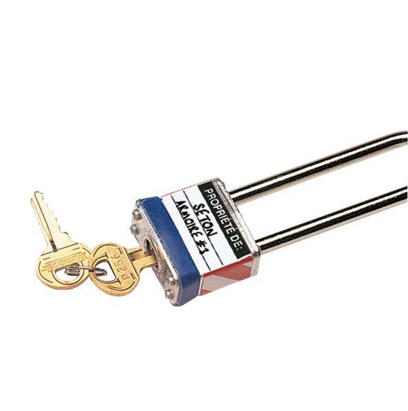 Etiquettes auto-laminantes pour cadenas - Etiquettes de consignation pour cadenas
