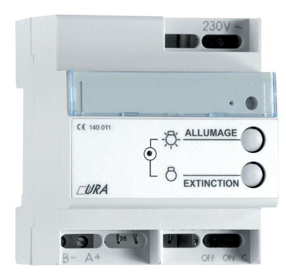 Télécommande pour blocs d'éclairage de sécurité