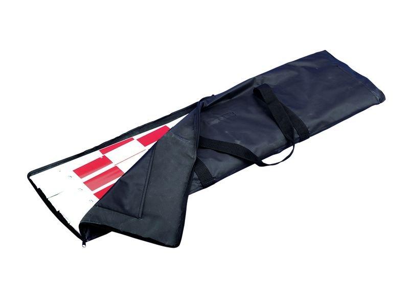 Barrière extensible portable réfléchissante rouge et blanche - Barrières de chantier