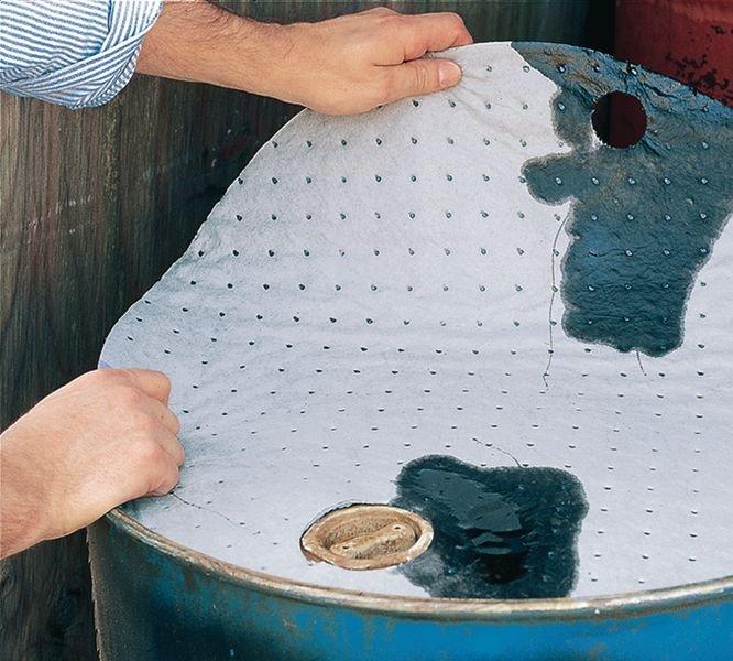 Couvercles de fûts absorbants pour liquides industriels - Seton