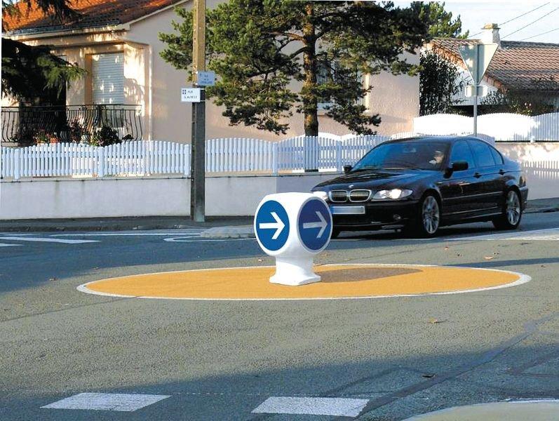 Balise giratoire 4 faces Obligation de tourner à droite avant le panneau - Seton