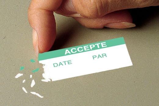 Etiquettes d'inspection en vinyle ultra-destructible personnalisées - Seton
