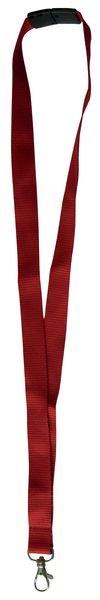 Cordons porte-badge plats avec fermeture de sécurité, à crochet nickelé