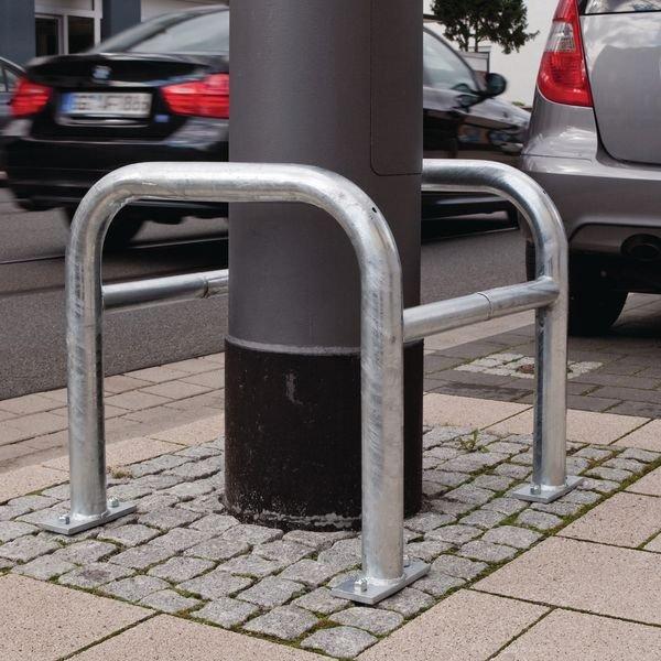 Arceaux de protection pour colonnes en acier