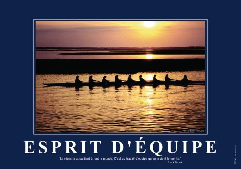 Poster de motivation format A3 plastifié: l'Esprit d'équipe