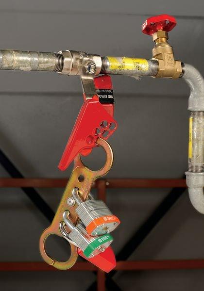 Mâchoire de sécurité en métal à double crochet - Moraillons de cadenassage