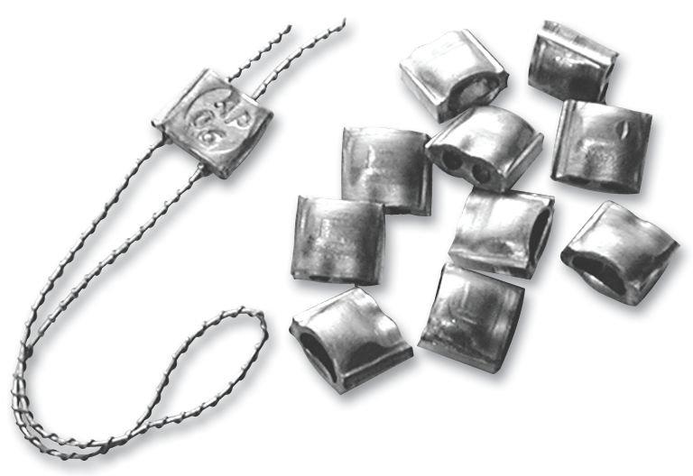 Plombs à sceller en aluminium - Seton