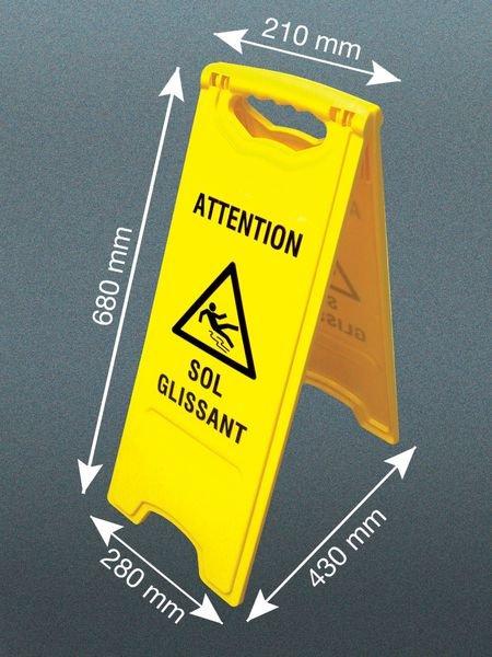 Chevalet de signalisation attention sol glissant - Seton