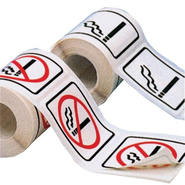 Autocollants en rouleau Interdiction de fumer - Signalisation interdiction / autorisation de fumer ou vapoter
