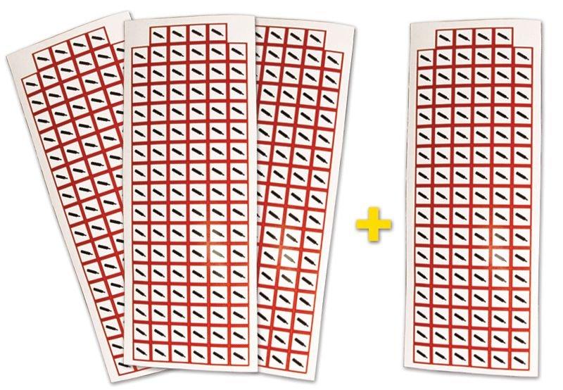 Lot de 4 planches de pictogrammes CLP Gaz sous pression (3+1 gratuite)