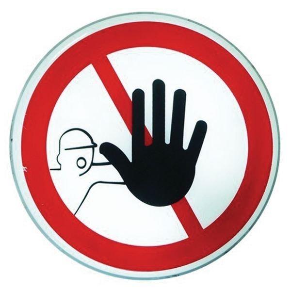 Panneau lumineux Accès interdit aux personnes non autorisées