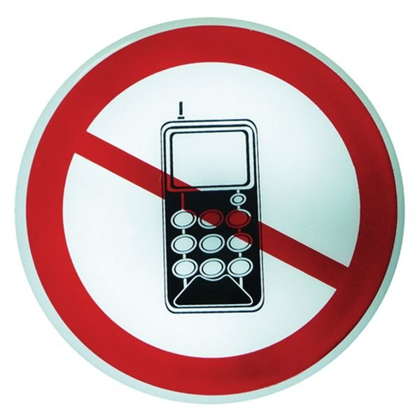 Panneau lumineux Interdiction d'activer des téléphones mobiles