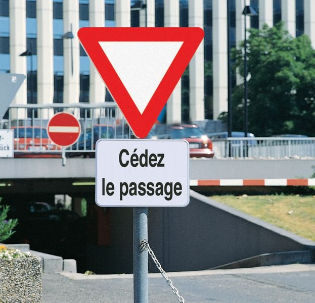 Panonceau de signalisation - Cédez le passage - Seton