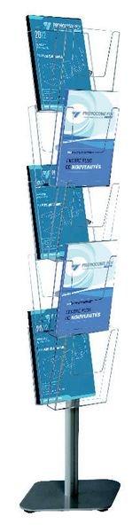 Présentoir de brochures sur pied à multiples compartiments
