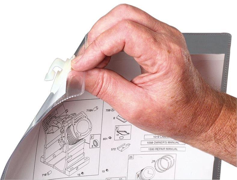 Pochettes de protection transparentes à clip à fixer sur grille