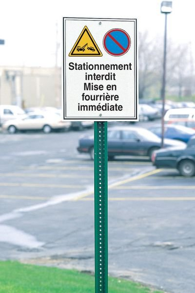 Panneau routier de dissuasion Badge de parking obligatoire - Seton
