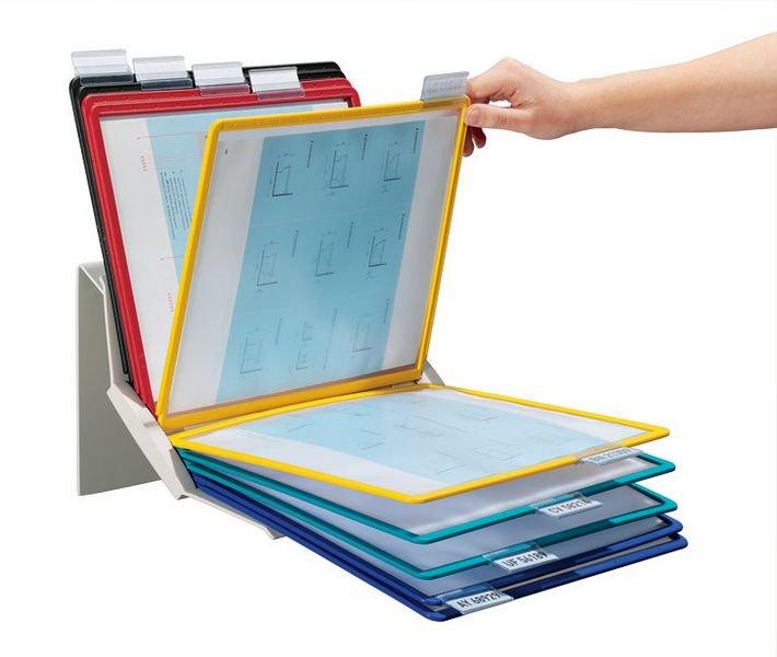 Support multifonctionnel protège-documents avec pochettes A4 - Affichage et protection de documents en entreprise