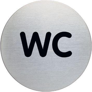 Panneau d'information design rond - WC