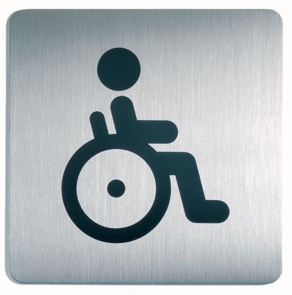 Panneau d'information design carré Handicapés