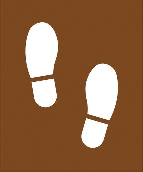 Pochoir en MDF pour marquage au sol Empreintes de pieds