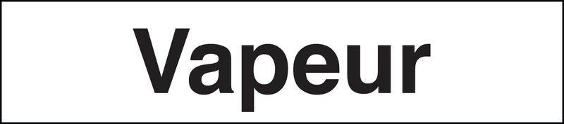 Marqueurs de tuyauteries adhésifs transparent  Vapeur (Vapeur)