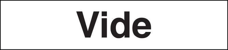 Marqueurs de tuyauteries adhésifs transparent  Vide (Gaz)