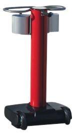 Poteaux rouges à roulettes à double sangle étirable de 20m