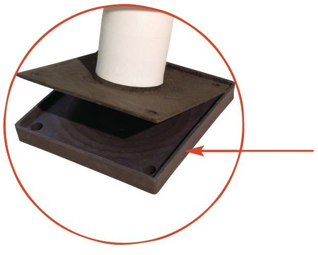 Poteau avec bagues de protection en élastomère - Barrières de protection et protections de racks