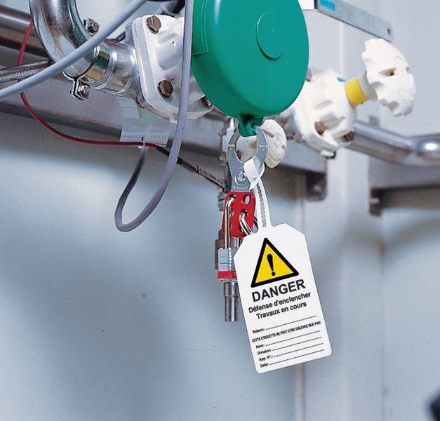Plaquette de sécurité Danger général - Défense de fermer la vanne à compléter - Panneaux et pictogrammes de danger lié aux machines
